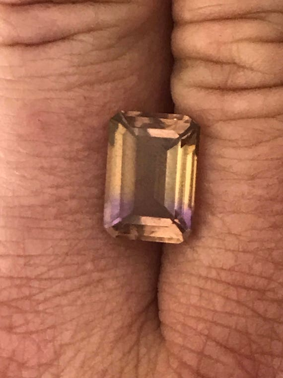 7 Ct Emerald Cut Ametrine (6.33mm x 10mm x 14mm)