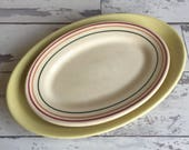 Vintage Hotel Ware Restaurant ware Platters Iroquois China and Wallace China Striped Yellow