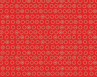 20EXTRA 50% OFF Boy Crazy Red Circles - 1/2 Yard