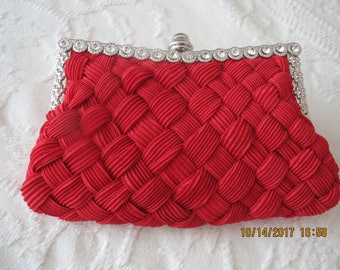 Red Evening Bag, Bridesmaid bag