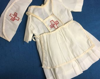 Vintage 3-Piece Nurse Doll Outfit