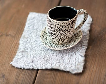 Rustic look Linen and wool napkin Heat-resistant Linen Placemats Linen Table decor Linen home decor