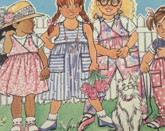 Butterick Busybodies 3789 Childrens Dress, Jumper, Overalls and Top, size 4-6, Uncut
