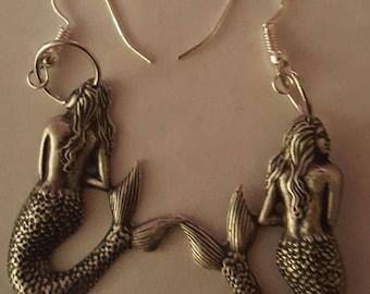 Mermaid, Mermaid earrings, Mermaid jewelry, Pinup, Ariel, Sealife, MsFormaldehyde