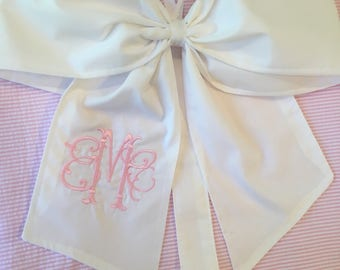 Monogrammed Hair Bow Holder Solid Fabric Custom