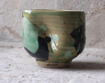 celadon tea yunomi