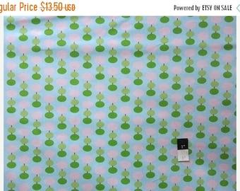CLEARANCE SALE Tanya Whelan OCTW003 Sugar Hill Lantern Blue Cotton Laminate Fabric 1 Yd