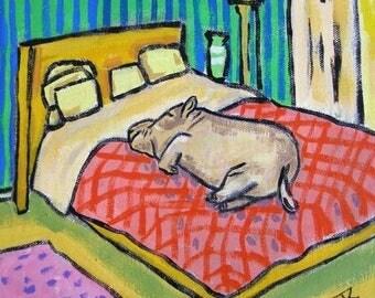 20 % off storewide Hippo Taking a Nap Hippopotamus Art Tile Coaster gift JSCHMETZ abstract MODERN pop folk art bedroom