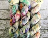BEE SPLAT - Hand Dyed Yarn - Signature Merino Nylon Sock Yarn Fingering - Ready to Ship - Vivid Yarn Studio