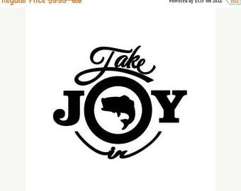 BACK to SCHOOL SALE Take Joy In Fish Decal