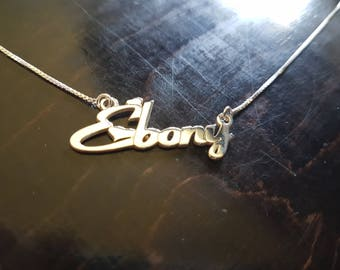 Custom  Name Jewelry in 24K Gold Plated - Personalized Name Necklace - Custom Made ANY NAME - Great Gift Idea