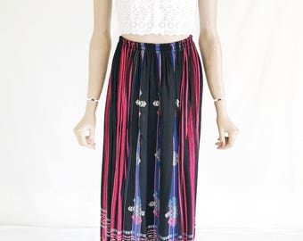 Vintage 80's Guatemalan Embroidered Skirt