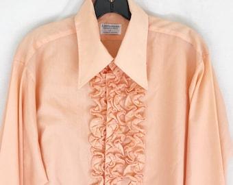 Vintage Tuxedo  Shirt. Men's Medium