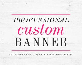 Custom Etsy cover banner cover photo shop banner new layout April 5 Etsy banner custom banner and avatar personalized set