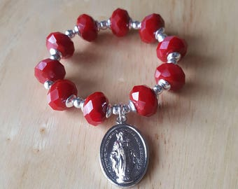 mini rosary, small rosary, baptism gift for girls, gift mom, prayer beads, first communion gift, confirmation gift, religious gift