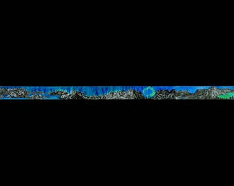 World Shan Shui : Earth Landscape Album - ㄚㄌ = Washi Masking Tape One Roll (40 mm) {PRE ORDER}