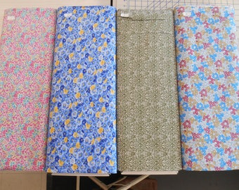 "BRAND NEW CALICO 100% cotton fabric flowers & art nouveau 1 yd x 44"" wide free ship"
