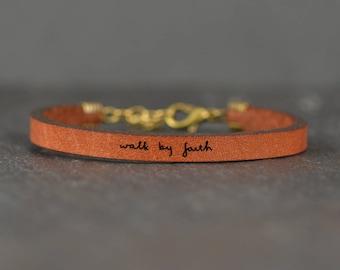 walk by faith | bible verse gift | christian bracelet | religious bracelet gift | scripture bracelet | gift for bible study | faith bracelet