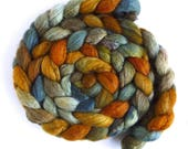 Pre-Order Colorway: Blueface Leicester/ Tussah Silk Roving (Top) - Handpainted Spinning or Felting Fiber, Cave at Hug Point