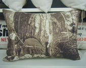 Lumberjack Old time Country Image from 1917 pillow