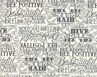 Bee Creative Words Laurel White 19752 13 | Deb Strain Designer | Moda Quilting fabric