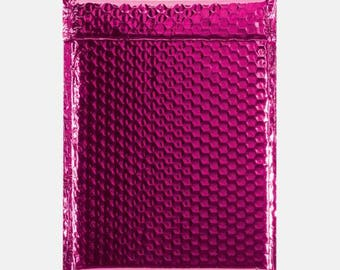 10 Hot Pink Bubble Mailer, Bubble Mailers, Metallic Bubble Mailer, Mailing Envelope, Shipping Envelopes, Padded Bubble, Self Sealing 6x9