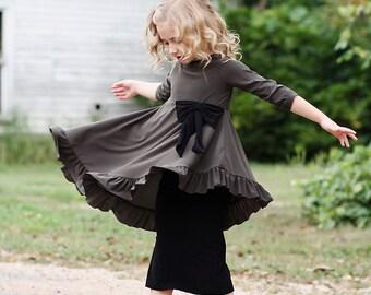 LillyAnnaKids MANDY Girls Ruffle Shirt top LALA
