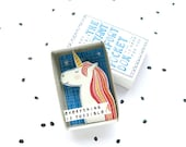 Always be a Unicorn - The Instant Comfort Pocket Box - everything is possible! - cheer gift - rainbow - graduation gift