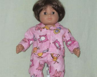 American Girl Bitty Baby size Pajamas Critters