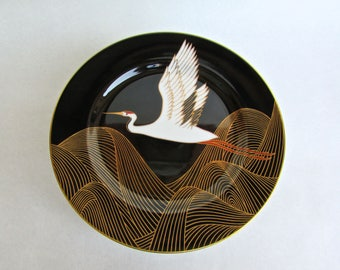 Fitz and Floyd 'Night Flight' Porcelain Salad Plates w/ 22ct Gold, Seven Available