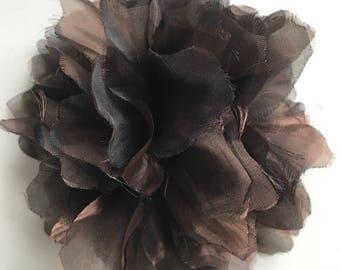 SILK  FLOWER , Chocolate Brown  / 649. A