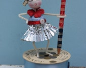 Vintage Style Spun Head Gal, Fourth of July - 4th of July, Red, White and Blue Pencil