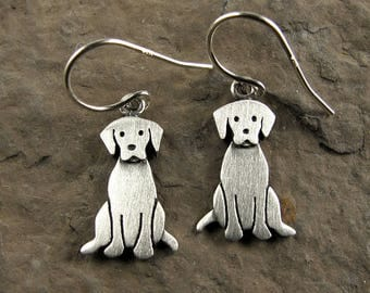 Tiny Labrador retriever earrings