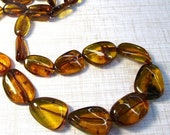 Out Of Town SALE Rare Natural Orange Amber Necklace Nugget Beads, 27 Inches, Natural Mandarin Orange Hessonite Garnet Color Russian Gemstone