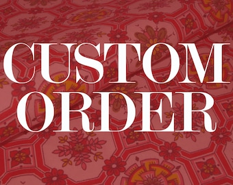 CUSTOM ORDER / 50s Vintage Cotton Red Floral Print - Fabulous Floral - Fifties Kitchen