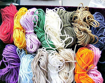 CORD, RAYON, Chinese Knotting Cord, Quality, String, 10 Yards, 3mm