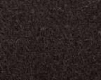 Black 20/80 Wool Blend Felt 12x18