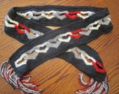 Sweetheart Scarf - a crocheted linked heart scarf