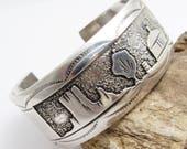 Sterling Storyteller Cuff Wide Yazzie Vintage Jewelry B5974