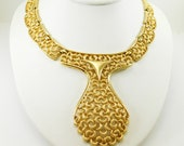 For Nancy Only Large Pendant Necklace Vintage Trifari Statement Jewelry
