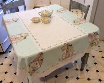 Vintage Mid Century Tablecloth Secrets of the Farmhouse Revealed