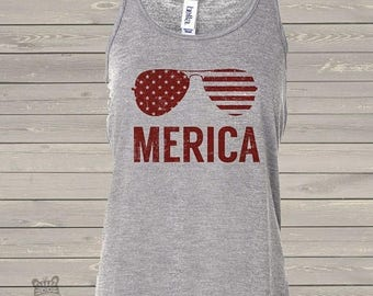 SALE - ships in time 4th SALE - America stars and stripes merica flowy tank top- perfect for July 4th festivities  SSFT