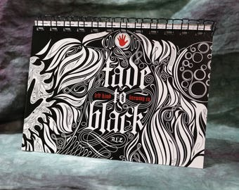 Spiral Notepad/Sketchpad from Recycled Left Hand Brewing Fade to Black Ale 6-pk Beer Carton