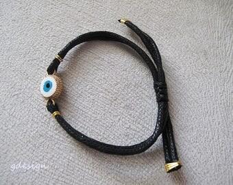 Gold Plated, Kaballah Bracelet,  Evil Eye Bracelet, Good Luck Bracelet, Charm Bracelet