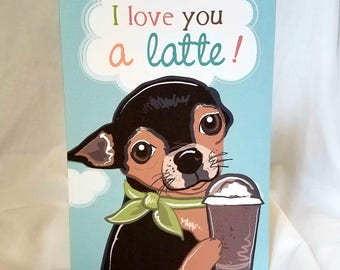 Latte Chihuahua Greeting Card