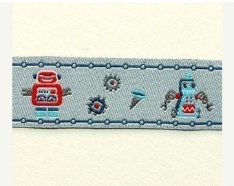 FINAL CLEARANCE SALE FarbenMix Robot Friends ribbon/sewing tape