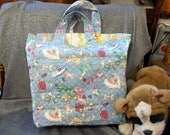 Cotton Shopping Tote Bag, Old Time Sewing Notions Print