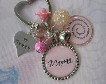 Porte-cles personnalise pour Mamans