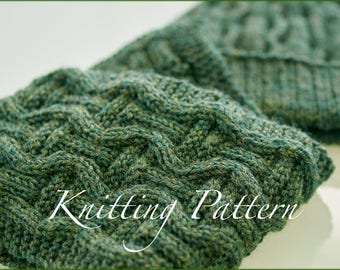 Grantchester Scarf - Knitting pattern - Mens scarf - Reversible design - Instant download