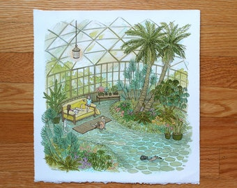 SALE! Conservatory - Original Painting by Nicole Gustafsson